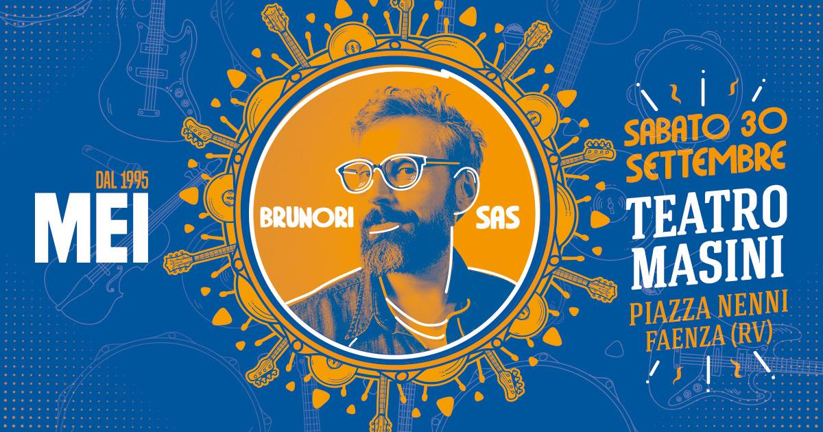 """MEI 2017 // Brunori Sas al MEI 2017 come """"Artista dell'anno"""" PIMI, il 30 settembre al Teatro Masini a Faenza"""