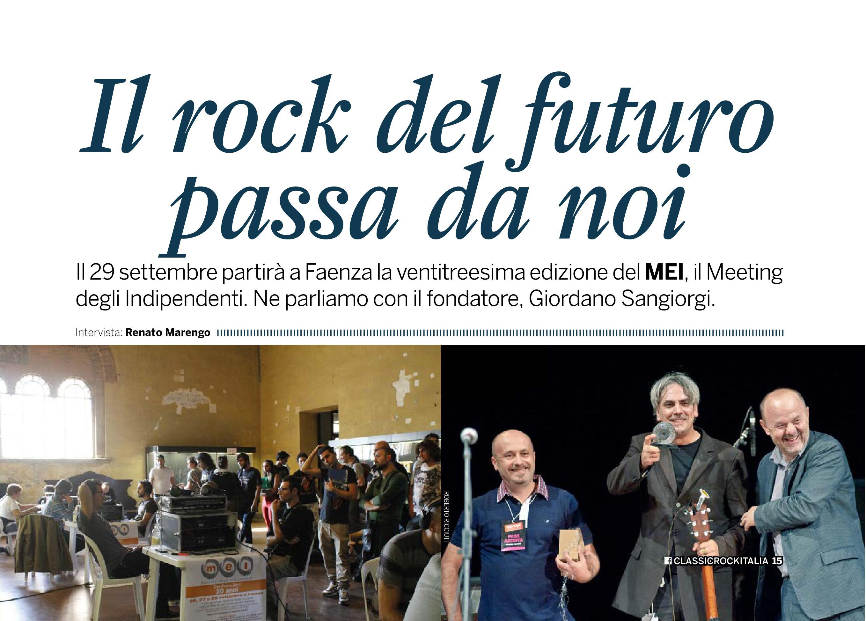 MEI 2017 // Il MEI su Classic Rock Italia: Intervista a Giordano Sangiorgi sul magazine da oggi in edicola!